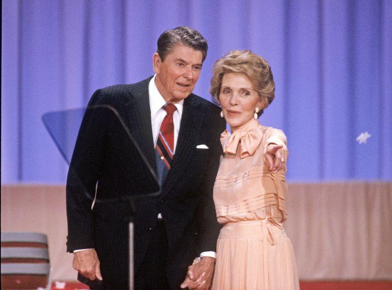 Oud-president Ronald Reagan en zijn vrouw Nancy