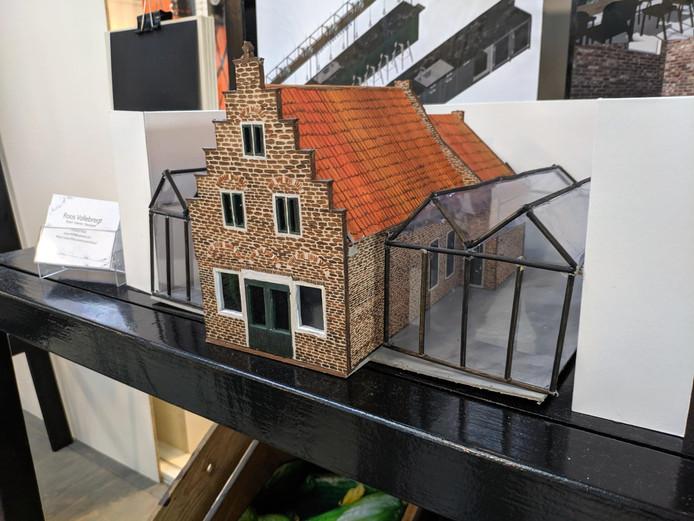 De maquette die Roos Vollebregt ontwierp voor haar eindexamenproject.
