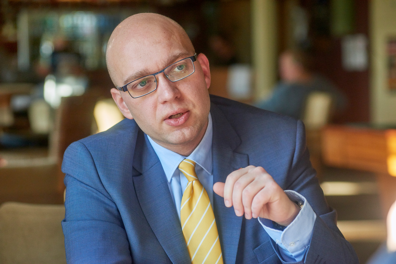 Raadslid Alexander van Hattem van de PVV in Den Bosch.