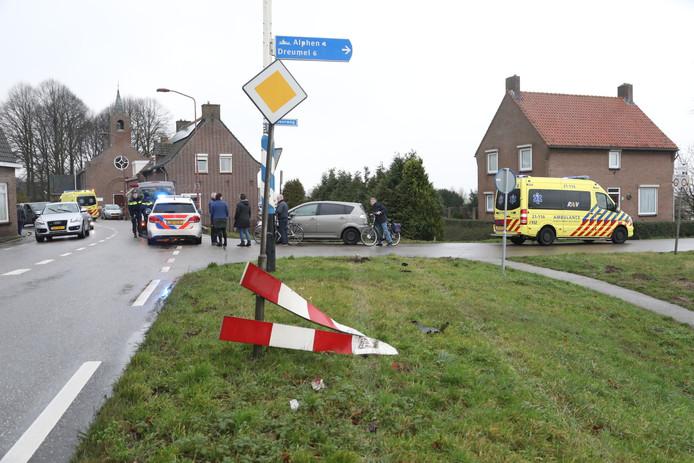 Op de Lithse Dijk in Lith is een ongeluk gebeurd.