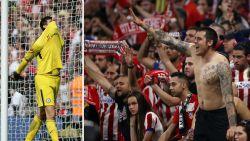 Fans van Atlético broeden op niet al te fraai plan voor de dag waarop Courtois weer een voet op hun terrein zet