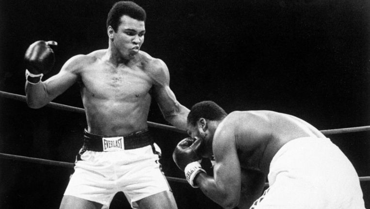 Muhammad Ali tegen Joe Frazier. Beeld ap