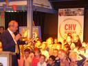 De aftrap van CHV Academy bij basisschool De Uilenbrink in Veghel met CEO Frits van Eerd van Jumbo. Ook deze 'academy' is genomineerd voor de kunst- en cultuurprijs.