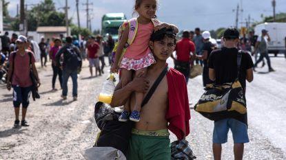 Derde migrantenkaravaan onderweg naar de VS