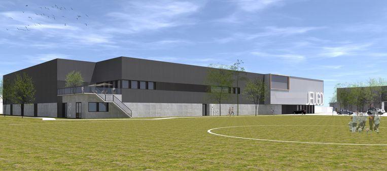 Een toekomstbeeld van hoe het nieuwe sportcomplex er zal uitzien.