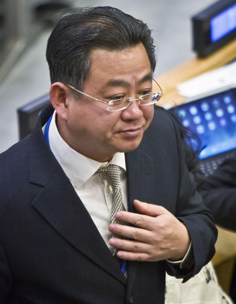De Noord-Koreaanse afgevaardigde Choe Myong Nam tijdens de Algemene Vergadering van de VN. Beeld ap