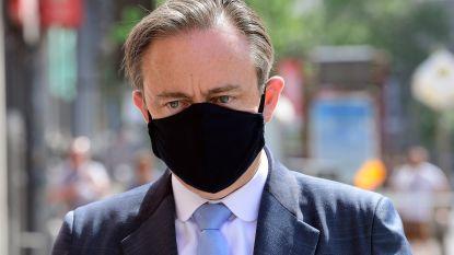 De Wever gaat nog stapje verder dan Berx: mondmaskerplicht tijdens hittegolf enkel op drukke plaatsen