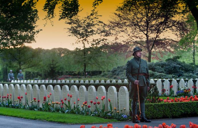 De militaire begraafplaats op de Grebbeberg.