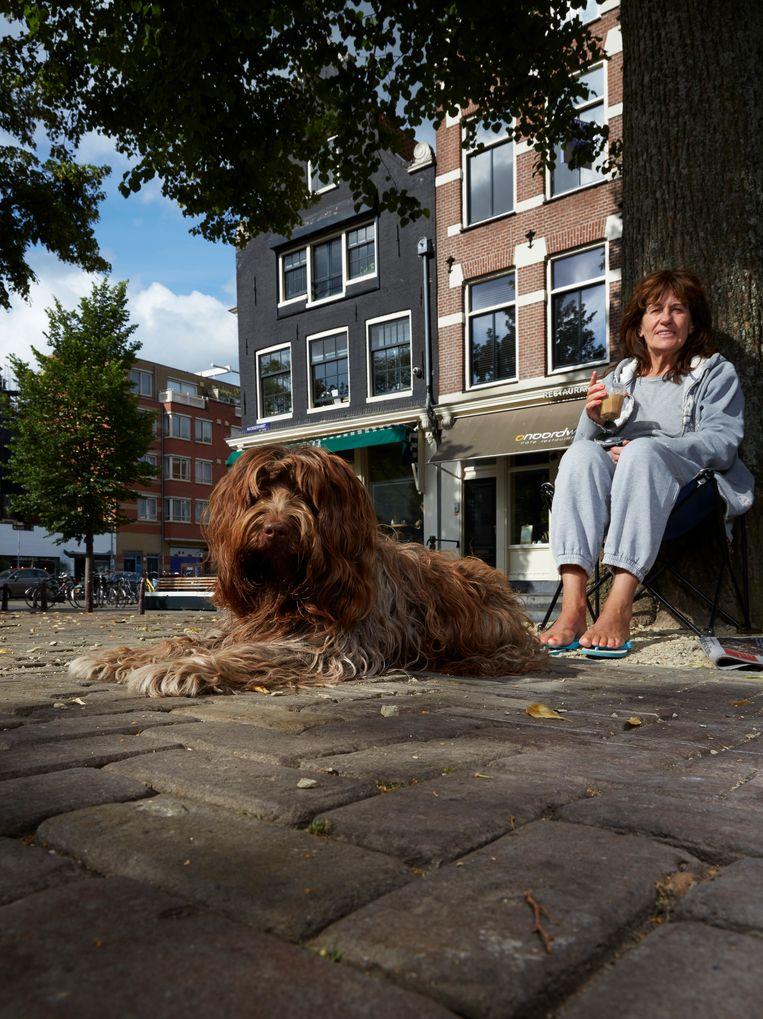 Rosa (4) Schapendoes, Noordermarkt Beeld Isabella Rozendaal