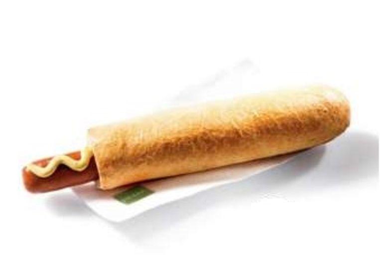 De groenten hotdog van de Hema Beeld