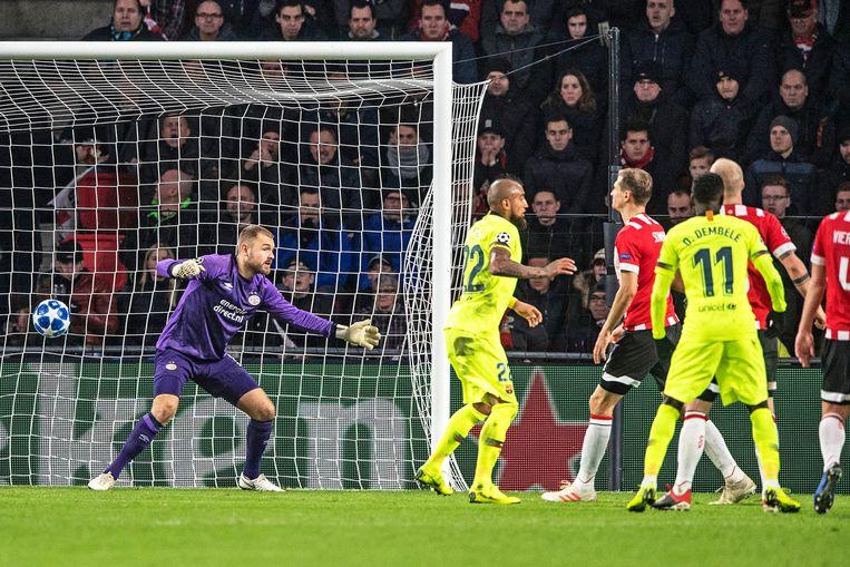 Messi heeft het eerste doelpunt gemaakt. Beeld Guus Dubbelman - de Volkskrant