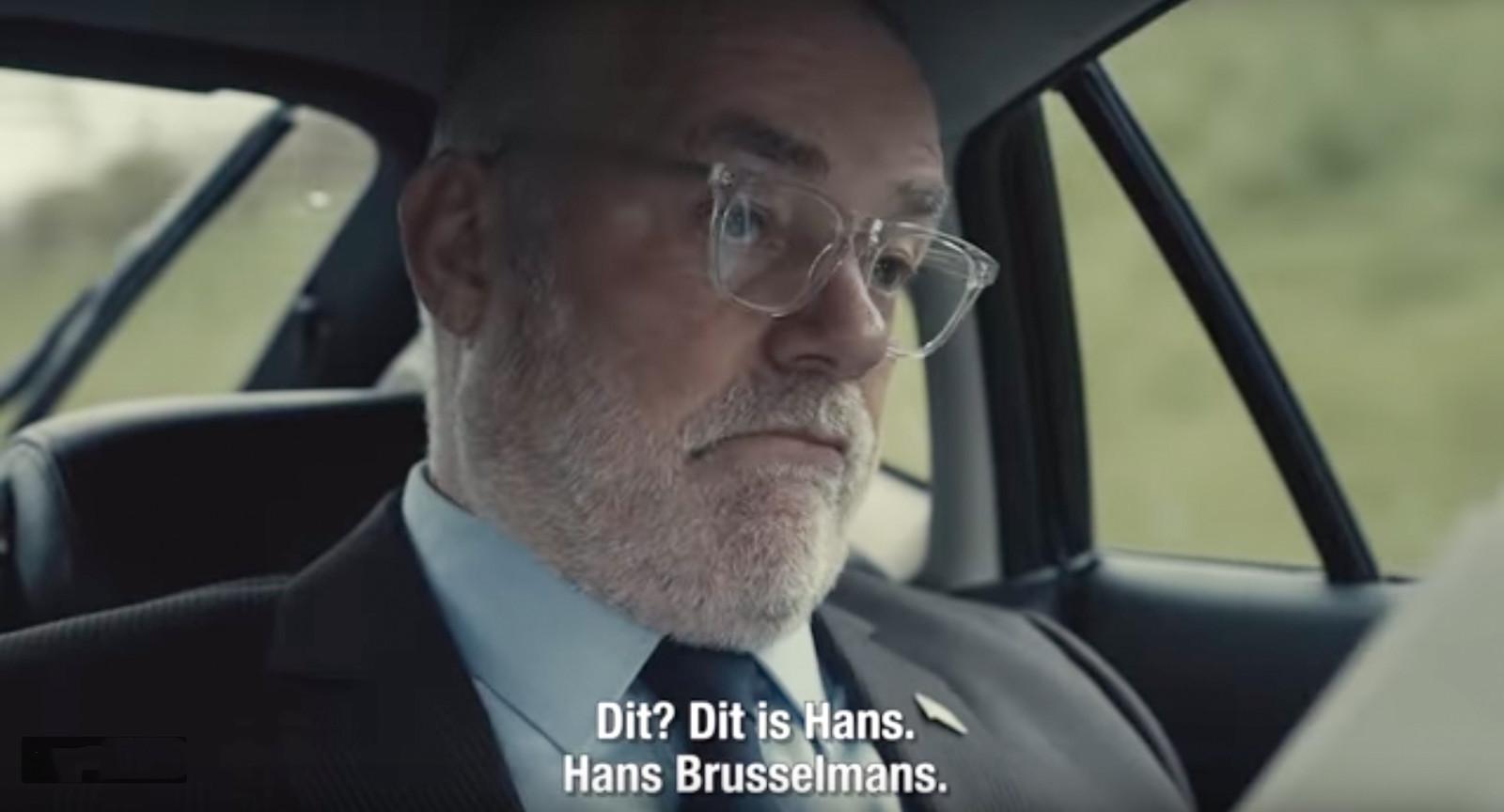 Videostill uit het SP-campagnefilmpje over Hans Brusselmans (Frans Timmermans)