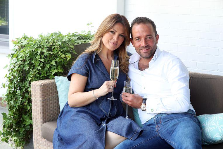Belle Perez met haar man Wout