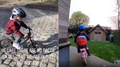 De Gendt houdt Tour de Quarantaine in de tuin, Stybar stoomt zijn zoon klaar voor Parijs-Roubaix 2040