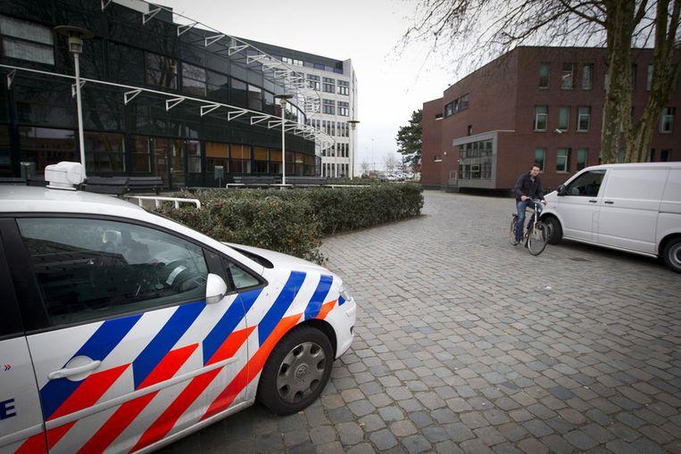 Een Nederlandse politiewagen.