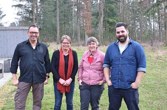 Van links naar rechts: Walter Waterschoot, Lian van Vlierden, Hennie Kwant en Theo Dubbeld.