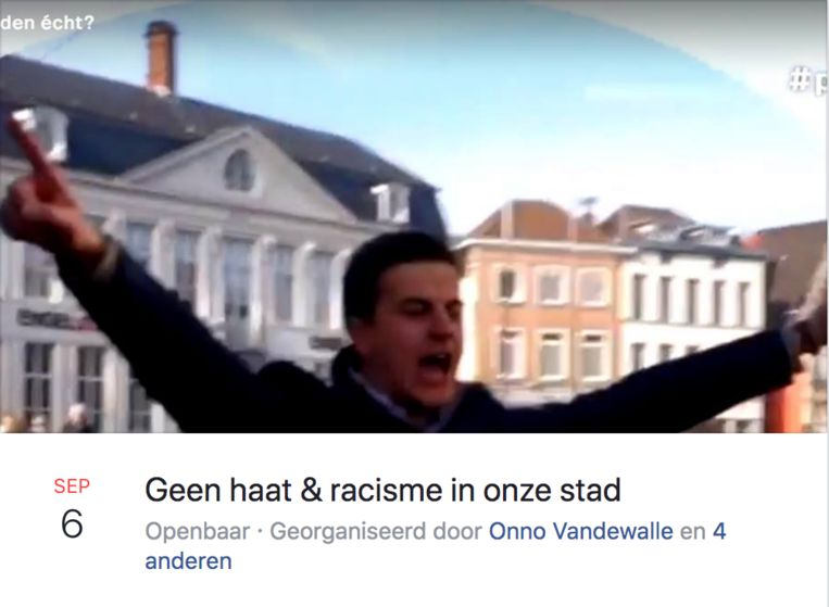 Betoging tegen haat en racisme naar aanleiding van reportage in Pano