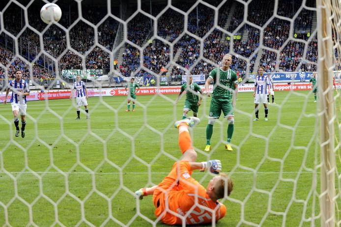 Nick van de Velden schiet FC Groningen op 0-1