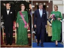 Royal vintage: op stap in de avondjurk van je schoonmoeder? Máxima doet het!