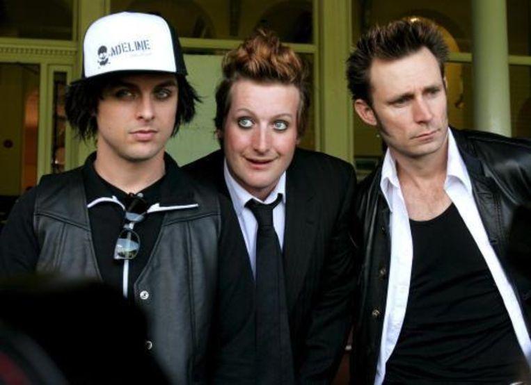 De Amerikaanse punkband Green Day gaat na drie jaar weer op tournee. Foto ANP Beeld