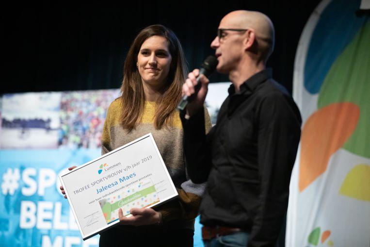 Kampioenenviering Kampioenen 2019 Lummen Sprtvrouw van het jaar 2019 : Jaleesa Maes