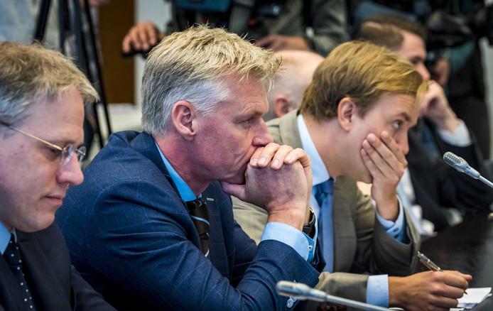 Rob Roos, lijsttrekker voor Forum voor Democratie tijdens de startbijeenkomst van Hans Wiegel, informateur voor provincie Zuid-Holland, over het informatieproces voor Zuid-Holland.