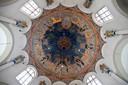 De koepelschildering in de Sint Cathrien in Den Bosch.