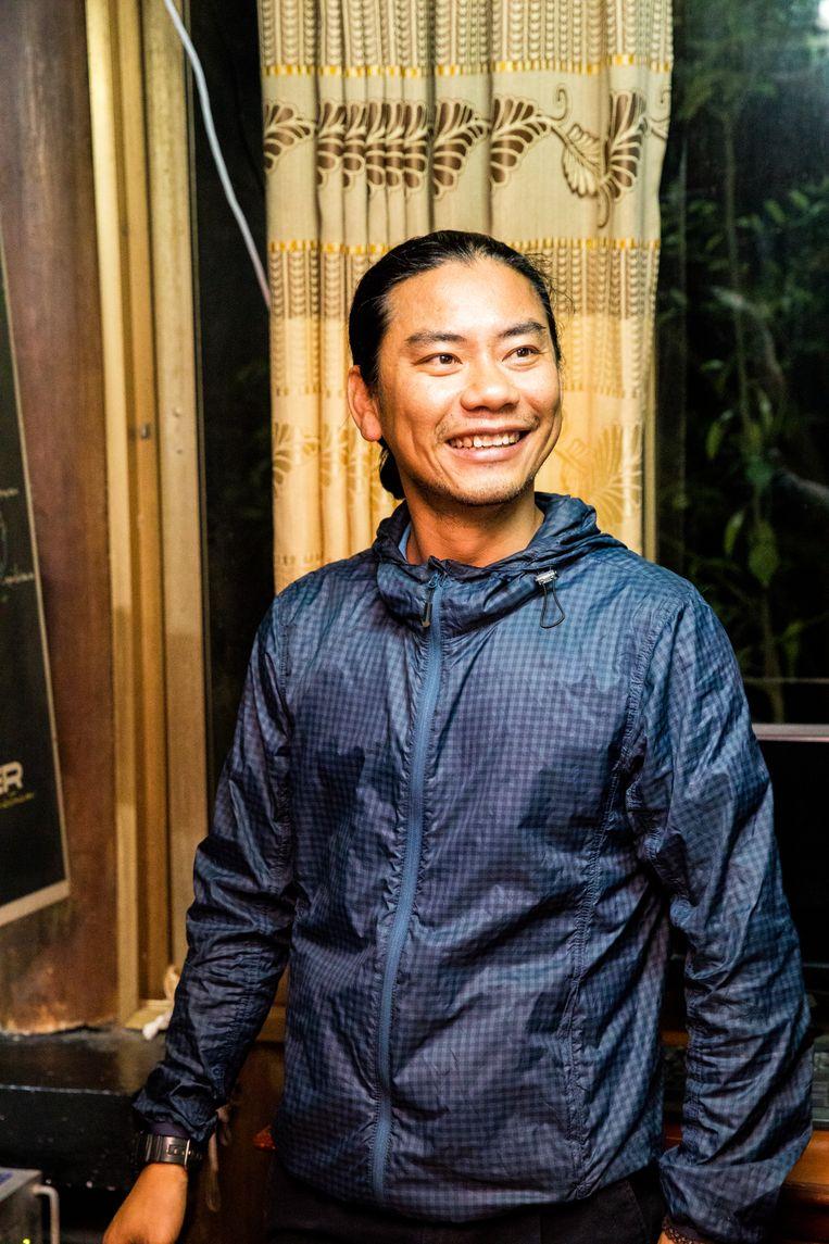 Kien Le, de eigenaar van de Eco lodge Cat ba. Beeld Marie Wanders