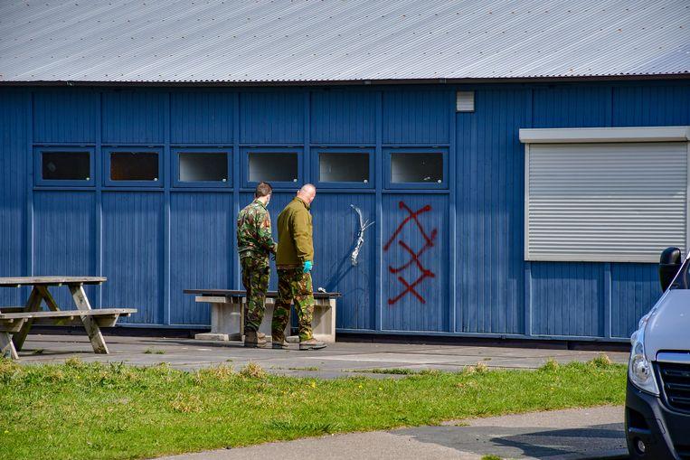 Het supportershome van ADO Den Haag waar de handgranaat werd gevonden. Beeld ANP