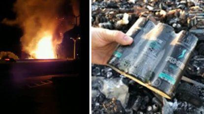 Vrachtwagen vol Axe-producten vliegt in brand, deo's knallen in het rond
