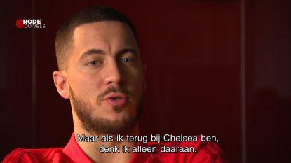 """Eden Hazard: """"Ik ben niet bezig met een transfer naar Real Madrid"""""""