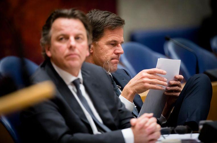 Flankpartijen noemden de juridische verklaring van Rutte dinsdagavond 'een aanfluiting, een nietszeggend stuk papier' (VNL), een 'papieren tijger' (SP) en 'een leeg voorstel' (CDA). Beeld anp