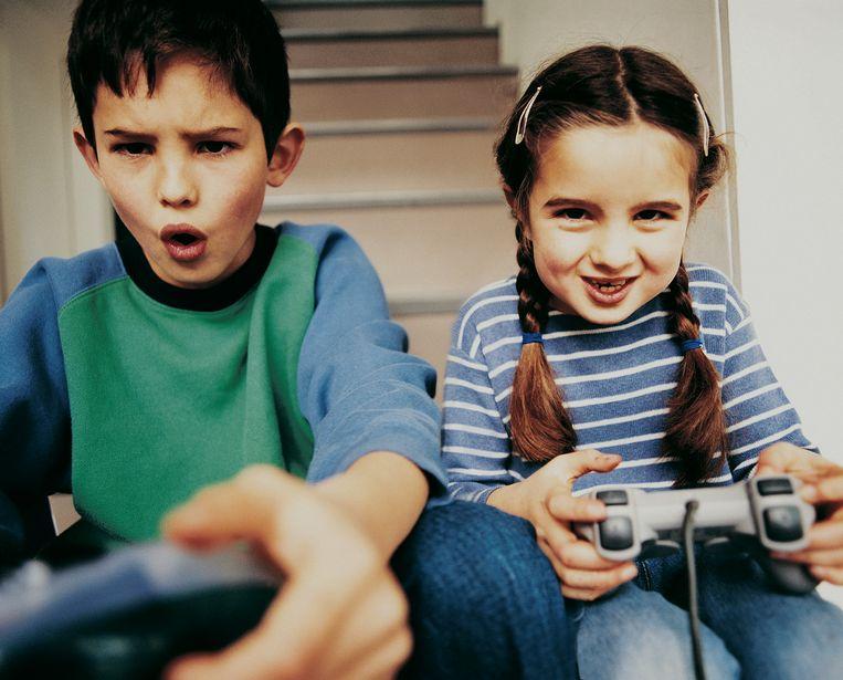 Kinderen in de ban van games.
