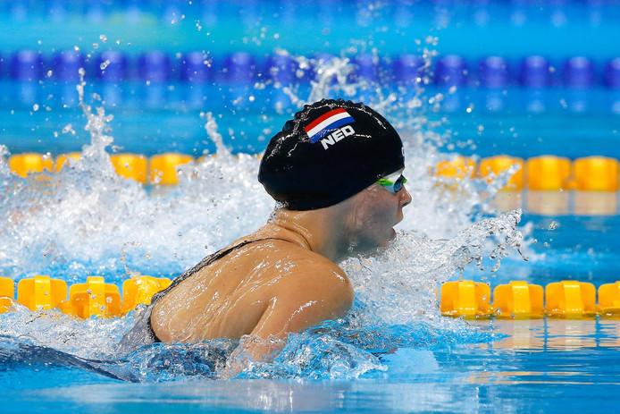 Liesette Bruinsma in actie tijdens de Paralympische Spelen.