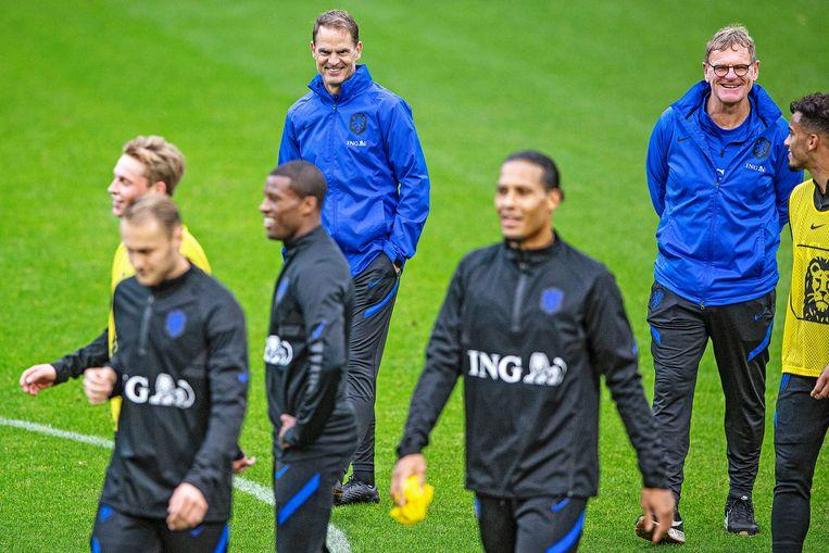 Frank de Boers eerste training met Oranje. Beeld Guus Dubbelman / de Volkskrant