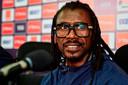 Aliou Cissé, de bondscoach van Senegal.