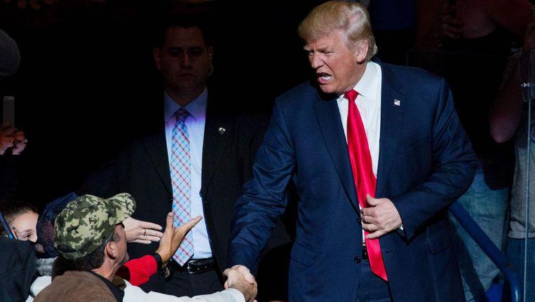 Donald Trump na afloop van het debat. Beeld afp