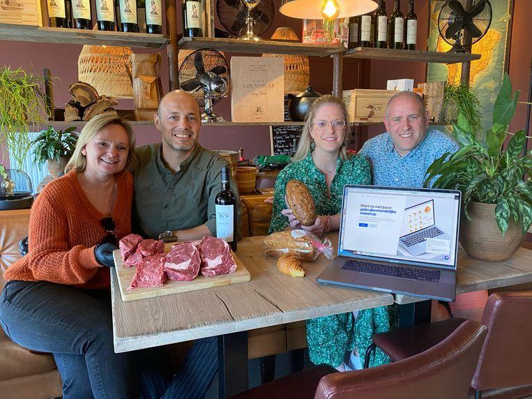 Onder andere de uitbaters van het restaurant Toma Maté in Beersel (links) maar ook zijn eigen vrouw deden al beroep op Koen Bert en zijn bedrijf Gibbon om een webshop te lanceren.