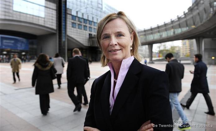 Annie Schreijer-Pierik zit voor het Europees Parlement in Brussel.