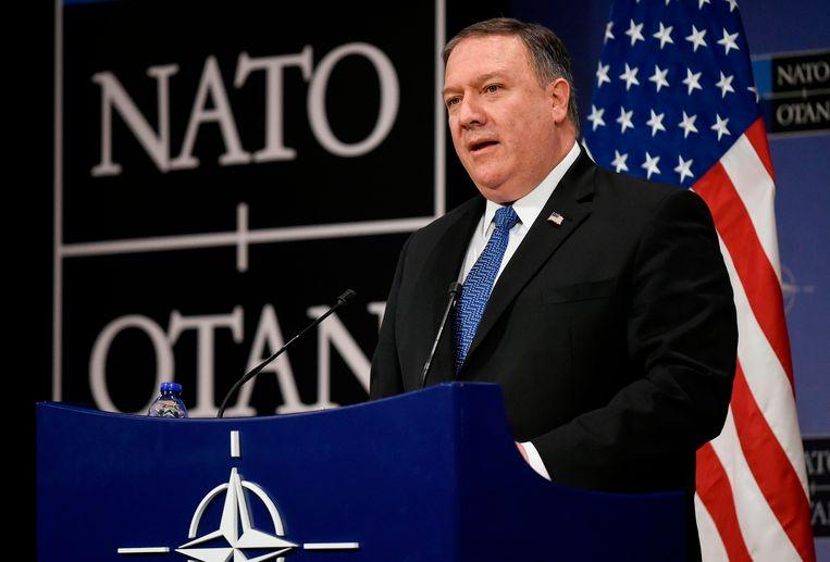 Mike Pompeo, de nieuwe minister van Buitenlandse Zaken. Beeld AFP