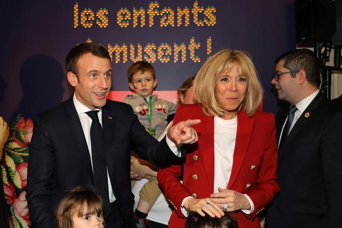 Emmanuel Macron en Brigitte Macron