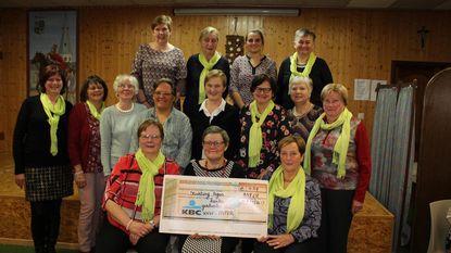 KVLV Asper verzamelt 454 euro voor 'Stichting tegen kanker'