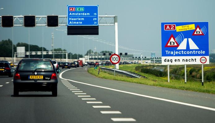 De A2 tussen Utrecht en Amsterdam