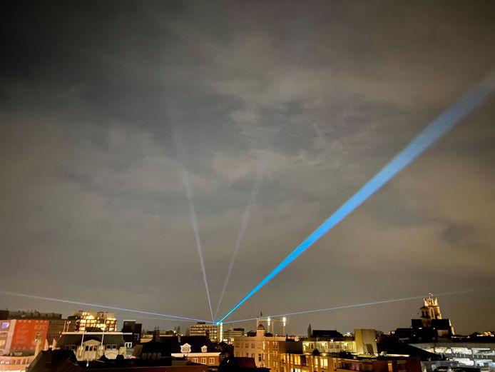 Woensdagavond wordt proefgedraaid met de lasers.