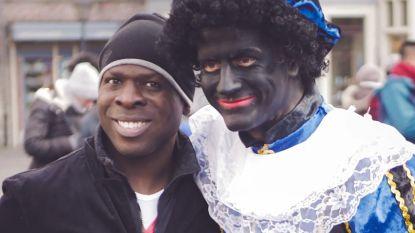 Dries Van Langenhove als Zwarte Piet door straten van Gent