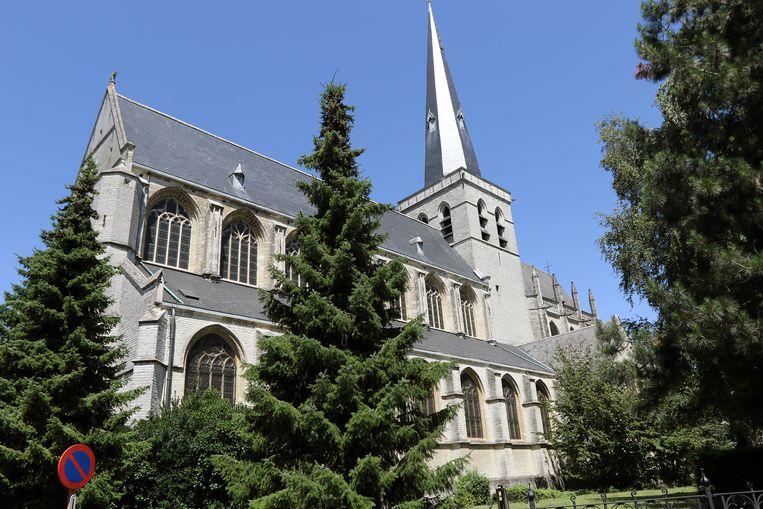 St.-Waldetrudiskerk van Herentals, gevestigd op het Kerkplein.