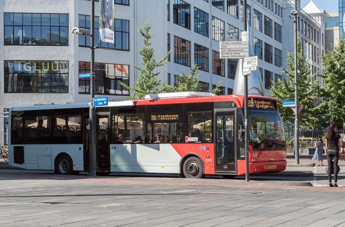 Lijn 20 in Eindoven is een van de minder goed bezette buslijnen van Hermes.
