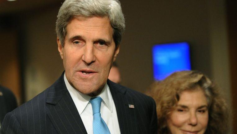 Amerikaanse minister van Buitenlandse Zaken John Kerry (l) Beeld ANP