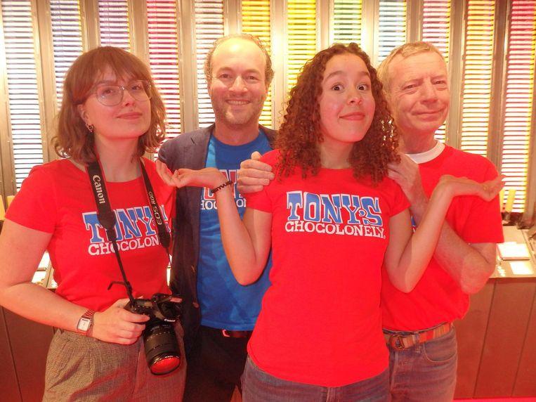 Team Tony: Suzanne Haarhuis, Nicolaas Bloemers, Maria Aratat Cortès en Thom Wennekes. Beeld Schuim
