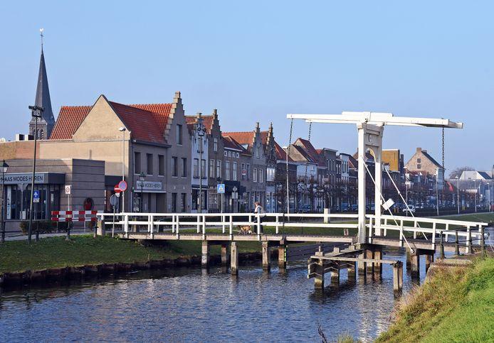 Sas van Gent centrum, idyllisch.